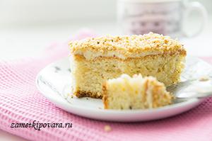 Бисквитное ореховое пирожное