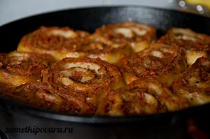 Ленивые пельмени в томатном соусе