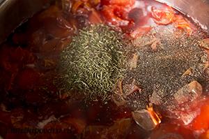 Соус ткемали из алычи с базиликом