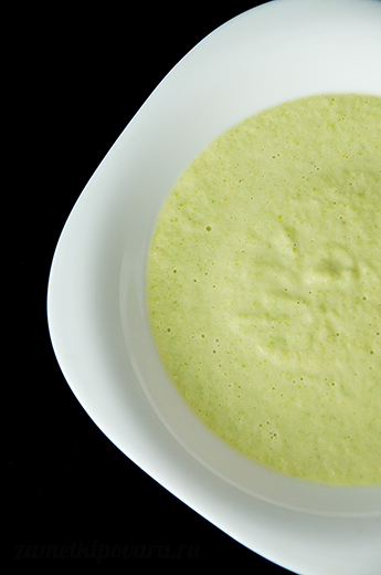 Сырный крем-суп из кабачка