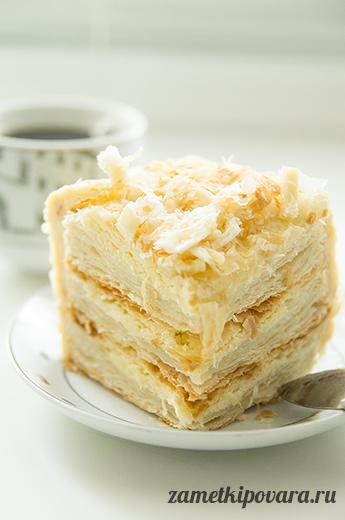 Слоеный торт с масляным кремом