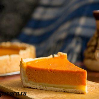 Песочный пирог с тыквенным суфле