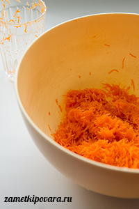 Морковный пирог с воздушным безе