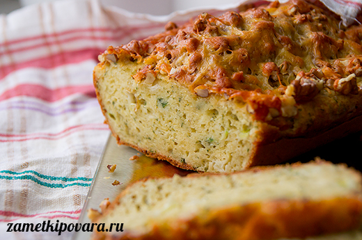 Сырный кекс с грецкими орехами