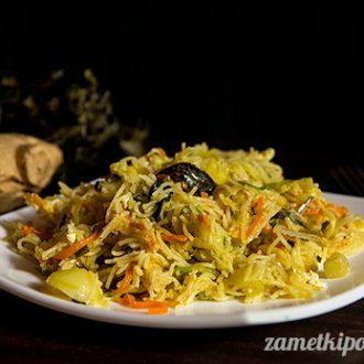Вермишель с овощами по-ланкийски