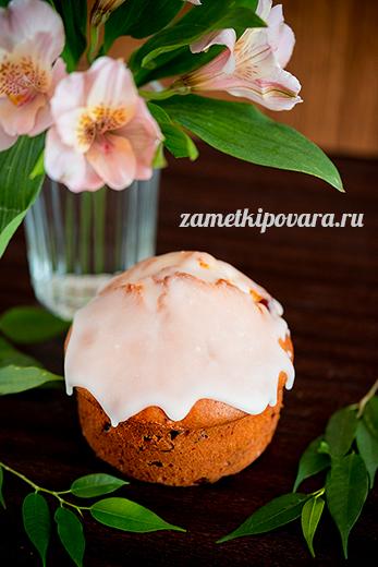 Пасхальные кексы с вяленой клюквой