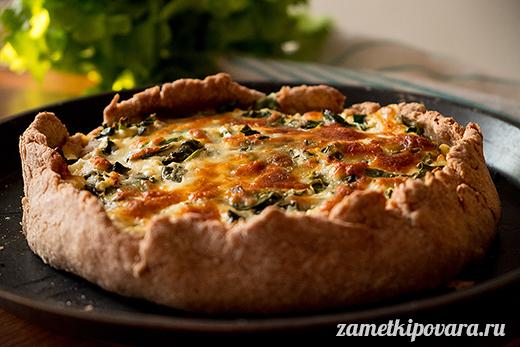Цельнозерновая галета со шпинатом и сыром