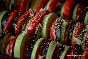 Овощи под соусом Бешамель