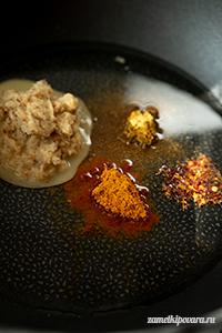 Алу Байнган - картофель с баклажанами по индийски